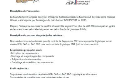 MFC RECRUTE : un.e alternant.e logistique pour septembre 2021